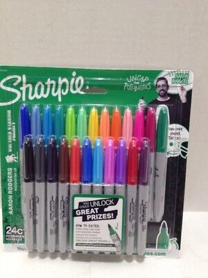 Sharpie Permanent Fine-Point Markers Assorted Colors 24 Pack Unlock Prize Code