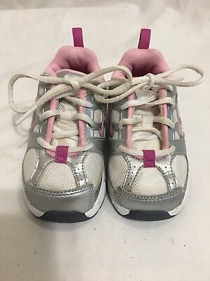 6e1c65fa7494 NIKE TODDLER BABY GIRLS SHOES - SIZE 5C - White With Pink Swoosh ...