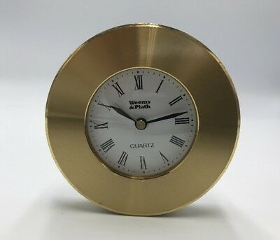 Weems & Plath Orion Quartz Clock, Solid Brass, Hand Polished, Nautical Look