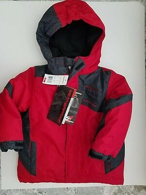 New W/tags Weatherproof Boys 3T 5In1 System Parka For All Seasons