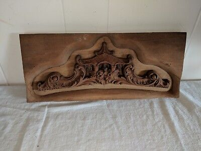 Antique Vintage Oriental Asian Carved Wooden Framing or Paneling Mold Temple