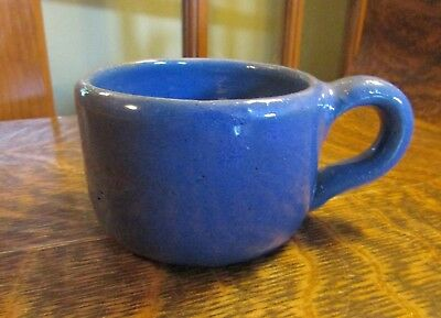 BYBEE Pottery Small Squatty Blue Mug, Cup