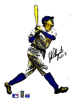 New York Yankees Babe Ruth-Lithograph-Ready for Framing-COA-Sultan of Swat!