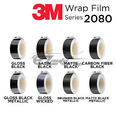 *3M 1080 Gloss / Matte Black Vinyl Wrap for Chrome Delete Car Decal Roll Sticker