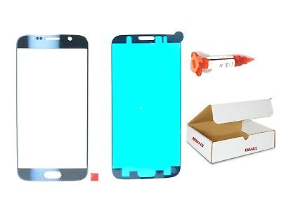 Black Sapphire Blue front glass lens replacement LOCA Glue Fit Galaxy S6 G920