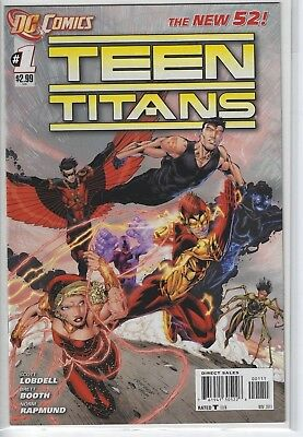 Teens Titans #1 DC Comics 2011 Scott Lobdell Brett Booth New 52 Flash Red Robin