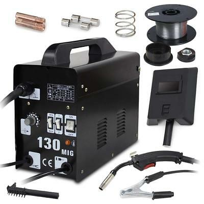 Super Deal Black Commercial MIG 130 AC Flux Core Wire Automatic Feed Welder w/
