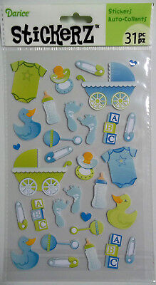 Baby Boy Stickers 31 Pcs  Darice  Free Shipping  NIP