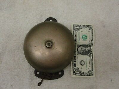 Antique Cast Iron Pull Chain Door Bell Old Vintage Hardware Boxing bell style