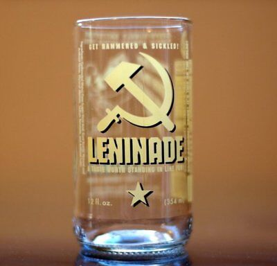 YAVA Glass - Upcycled Collectible LENINADE Soda Bottle Glass