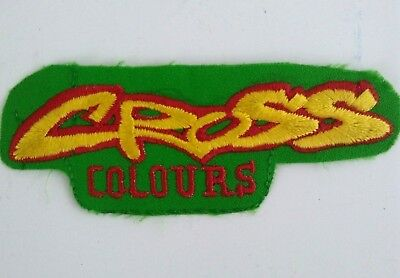 Rare Cross Colours Embroidered Iron Sew on Patch Vintage 90's Streetwear Hip Hop