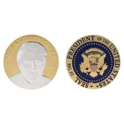 Commemorative Coin USA American President Trump Collection Arts Gifts Souvenir