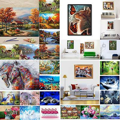 Modern Scenery Cute DIY Oil Painting By Number Unframed Wall Art Home Room Decor