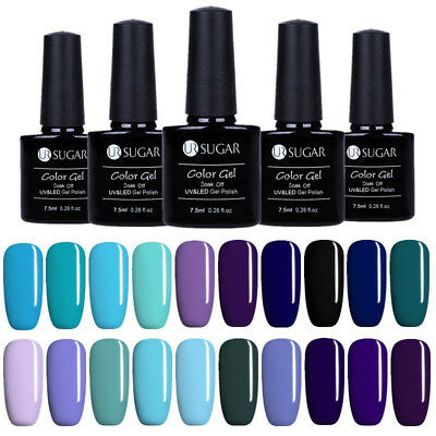 20Colors UV Gel Nail Polish Soak off Blue Color Gel Varnish Manicure UR SUGAR
