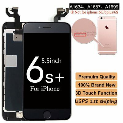 OEM iPhone 6S Plus LCD Touch Display Screen Replacement +Buttonn +Camera Black