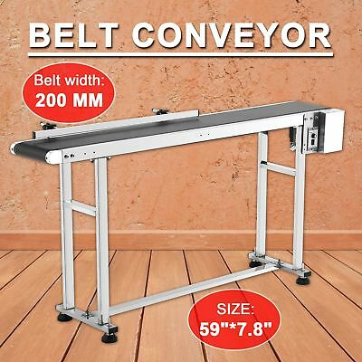 "59"" x 7.8"" Belt Conveyor Heavy Duty Stainless Steel Motorized Belt Conveyor"