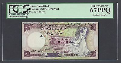 Syria Syrie 10 lira 1978 P101bp Proof  Uncirculated