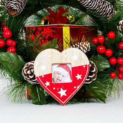 Wooden Photo Frame Christmas Tree Ornament Album Box Party