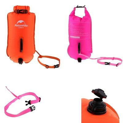 Safety Swim Buoy Dry Bag Inflated Device for Open Water Sea Swimming Surfer