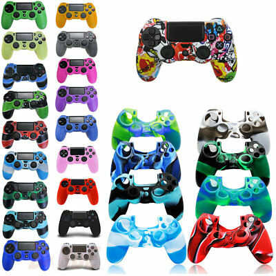 Camouflage Skin Case Cover For PlayStation PS4 Pro Gamer Silicone Rubber Grip
