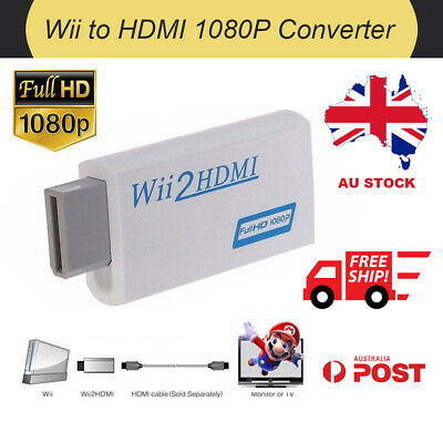 Wii to HDMI Video Converter 720P 1080P Full HD Upscaling 3.5mm Audio Adapter