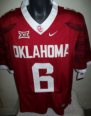 Oklahoma SOONERS #6 MAYFIELD  Jersey RED or WHITE M, L, XL, 2X, 3X