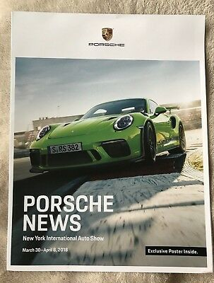 Porsche News 2018 Product Guide Poster Brochure - New