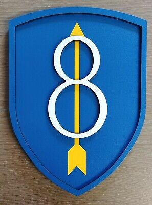 "US Army 8th Infantry Division ""Pathfinder"" ""Golden Arrow"" 3D Military Plaque"