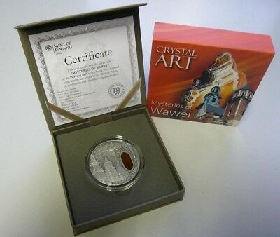 Niue 2013 Crystal Art Castle of Wawel 2 Oz Pure Silver Coin Agate Insert Perfect