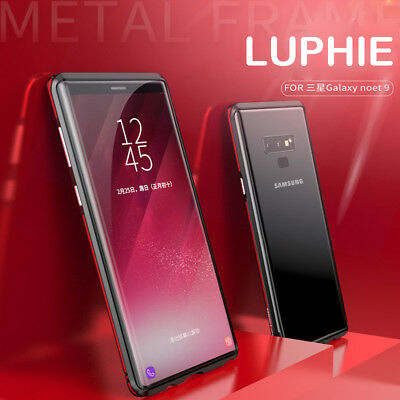 LUPHIE For Samsung Galaxy Note 9 PC Alumnium Metal Frame Bumper Case Shock Cover
