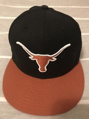 the best attitude 53f70 cab85 Texas Longhorns 59FIFTY Fitted Cap Hat SIZE 7 3 8 Black   Burnt Orange New