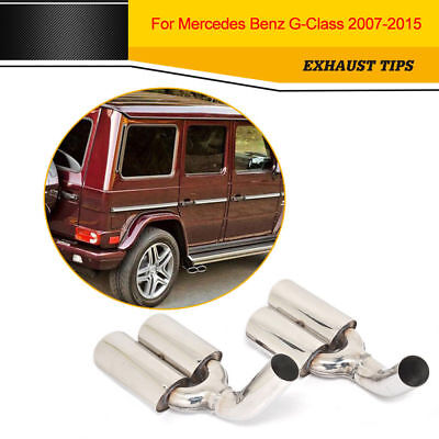 Stainless Steel Exhaust Pipe Muffler Fit for Mercedes Benz G-Class 2007-2015
