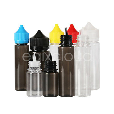 30ml 60ml 100ml 120ml Empty Plastic PET Dropper Liquid Bottles Double Safe Cap