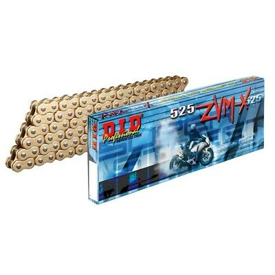 DID Gold Heavy Duty X-Ring Motorcycle Chain 525 ZVM2 x 118 Links