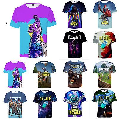 3D T-Shirt Fortnite Royale XBOX Gaming Men Women Print Tee Shirt Playstation AU