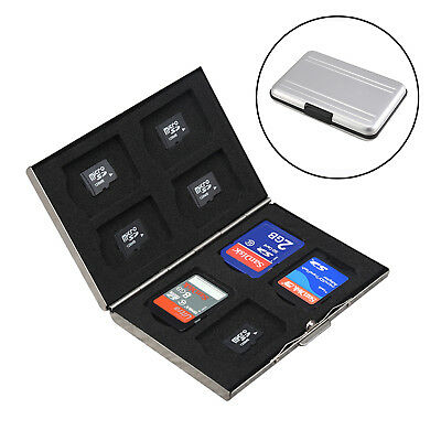 8Pcs Micro Memory SD Card Storage Case Holder Anti-shock Portable Wallet Box