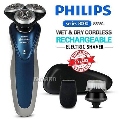 PHILIPS Series 8000 Wet and Dry Electric Shaver Cordless Beard Trimmer S8980