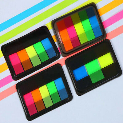 Unique Sticky Highlighter Index Tabs Neon Page Marker Adhesive Bookmark 125X