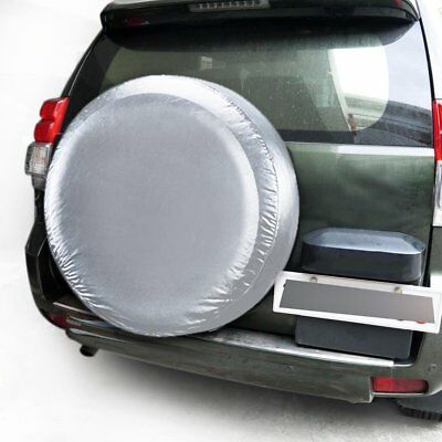 Akozon Tyre Covers Tyre Covers for 4 Inch 32 Inch Tyres Protective Covers for Car Wheels up to 32 Inch on Camper Caravan Trailer Caravan default Black