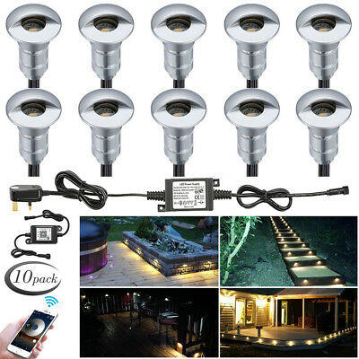 10XWIFI Controler Dimmer 12V Yard LED Deck Step Stair Inground Lights IP65 Lamp