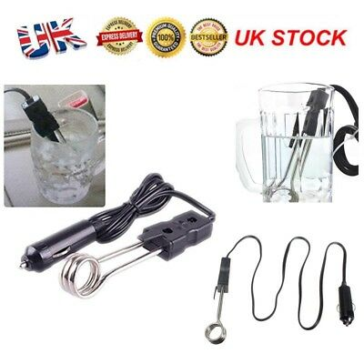 12V Car Immersion Heater Water Soup Tea Coffee Baby Bottle Boiler Element 120W