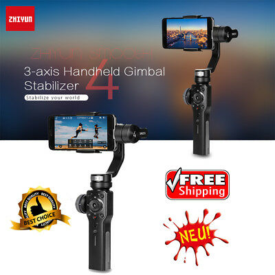 For iPhone / Samsung Galaxy Zhiyun Gimbal Stabilizer Smooth-4 3-Axis Handheld