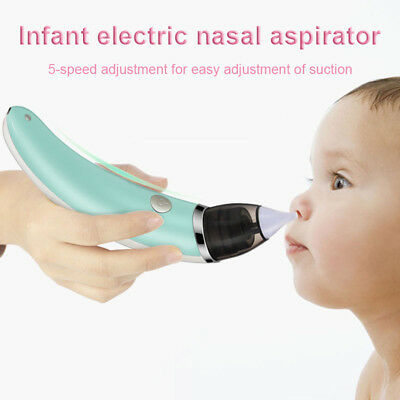Baby Nasal Aspirator Electric Nose Snot Cleaner Suction Infant Toddler Safe