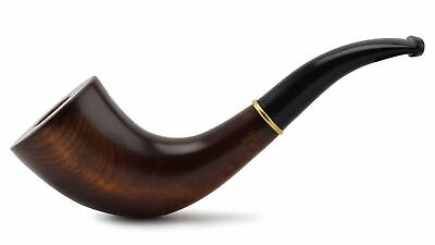 "NEW Wooden Tobacco Smoking Pipe ""English horn"", Pear wood, For filter ~ 6-1/2"""