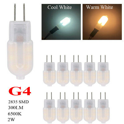 10X CE ROHS G4 12V 2W 6500K 300lm LED Halogen Capsule Light Lamp Cool Warm White