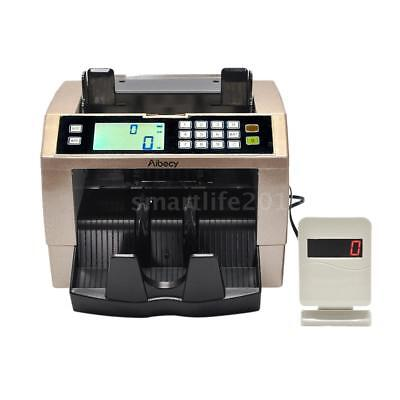 LCD Cash Money Bill Counter Currency Counting Machine Counterfeit Detector B3J8