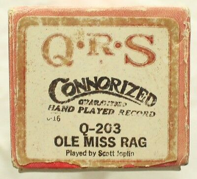 "SCOTT JOPLIN ""Ole Miss Rag"" QRS Q-203 [PIANO ROLL]"