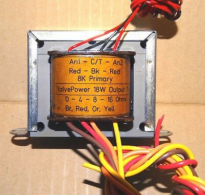 Deluxe SRBP flying leads 18W Valve Output Transformer 8K to 4,8,16ohm RS Repro