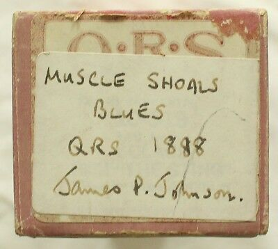 "JAMES P. JOHNSON ""Muscle Shoals Blues"" QRS 1888 [PIANO ROLL]"
