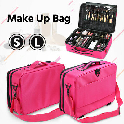 Professional Makeup Bag Portable Cosmetic Case Storage Box Travel Bag Kit